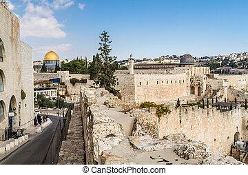 al-aqsa, jerozolima, meczet, kopuła, skała
