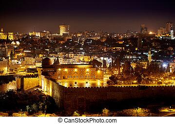 Al-Aqsa mosque in Jerusalem at Night