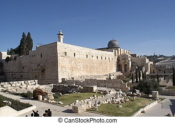 Al Aqsa mosque  in jerusalem holy land