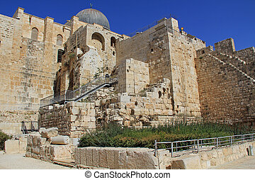 Al-Aqsa Mosque on the South Side of - Al-Aqsa mosque is...