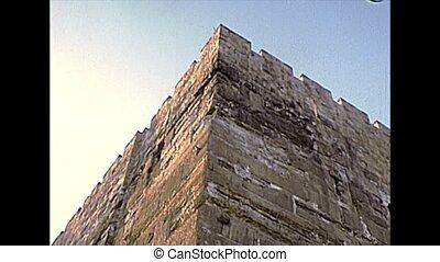 Al-Aqsa Mosque wall in Jerusalem - Wall of Al-Aqsa Mosque on...