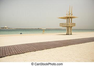 Al Bahar beach at Abu Dhabi in United Arab Emirates