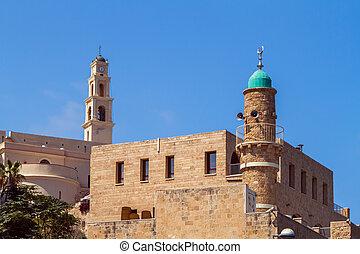 al-bahr, ピーター, 古い, jaffa, st. 。, モスク, イスラエル, 教会