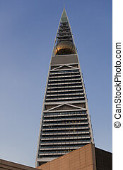 Al Faisaliah tower facade in Riyadh, Saudi Arabia