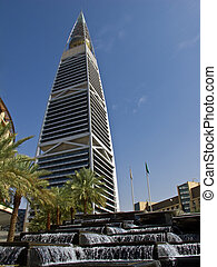 Al Faisaliah tower in Riyadh, Saudi Arabia