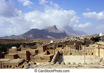 Al Hamra Yemen Village in Oman in the Middle East.