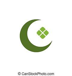 al, ilustración, ketupat, eid, fitr, ramadan