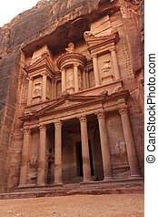 Al Khazneh or The Treasury at Petra