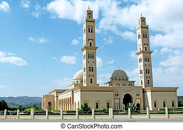 Al Qubrah Mosque in Muscat, Oman in the Middle East.