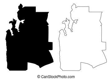 Al-Shahaniya (State of Qatar, Municipalities of Qatar) map ...