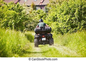 al terræn, rider, køretøj