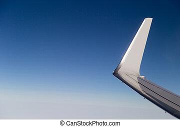 ala, aereo, volo