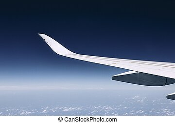 ala, di, moderno, aeroplano