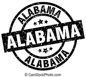 Alabama black round grunge stamp