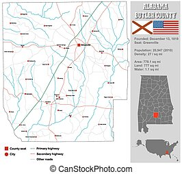 Alabama Bullock County Map