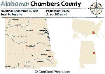 Alabama: Chambers county map