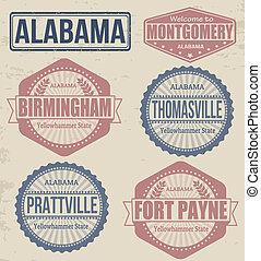 Alabama cities stamps