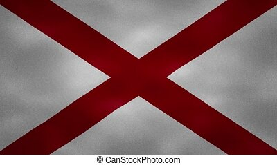 Alabama US dense flag fabric wavers, perfect loop for background