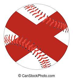 Alabama Flag Baseball
