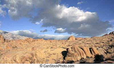 Alabama Hills Owens Valley Sierra - Clouds roll over this...