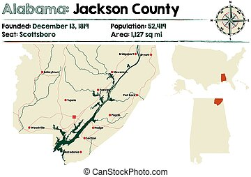 Alabama: Jackson county map
