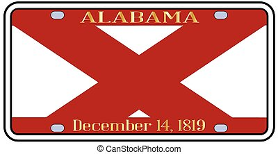 Alabama License Plate - Alabama state license plate in the...