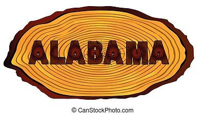 Alabama Log Sign