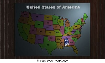 Alabama pull out from USA states abbreviations map
