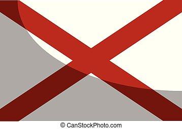 alabama, sombra, bandeira, sate