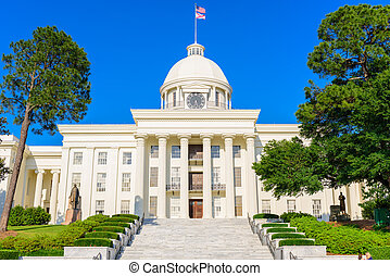 Alabama State Capitol in Montgomery, Alabama.