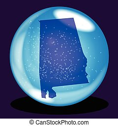 Alabama State Crystal Ball Map
