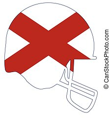 Alabama State Flag Football Helmet
