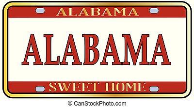 Alabama State Name License Plate - Alabama state license...