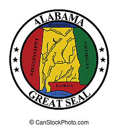 The great seal of Alabama isolated on a white background