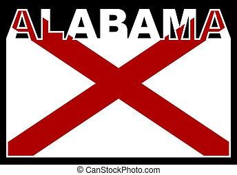 Alabama State Text Flag
