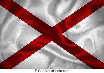 Alabama waving flag