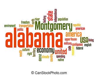 Alabama word cloud