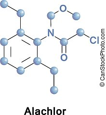 Alachlor is an herbicide from the chloroacetanilide family. It is used for control of annual grasses and broadleaf weeds in crops