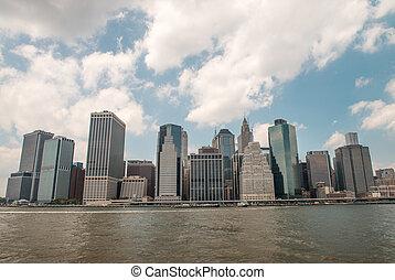 alacsonyabb manhattan, épületek, alatt, új york város