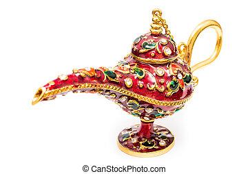 Aladdin Magic Lamp Isolated On White Background