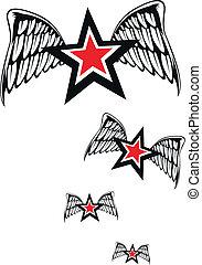 alado, estrellas