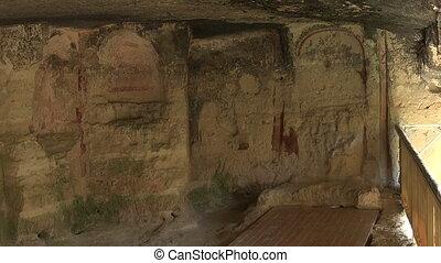 Aladzha Monastery in the mountains. Varna. Bulgaria. -...