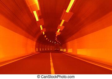 alagút, kilátás