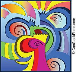 alakít, abc-és, háttér, elvont, színes