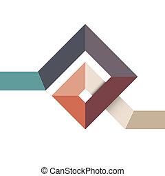 alakít, tervezés, elvont, geometriai