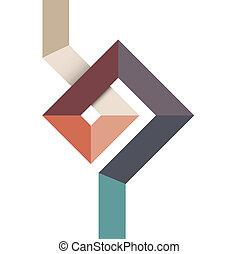 alakít, tervezés, geometriai, elvont