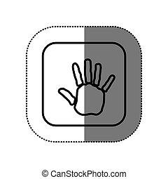 alak, jelkép, kéz, ikon