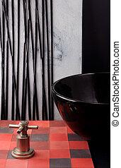 alakzat, csempeborítás, színes, fürdőszoba, bathro, colors., decor.