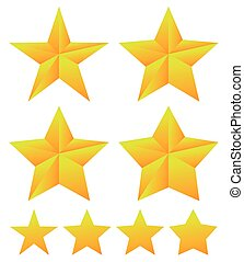 alakzat, különböző, állhatatos, csillag, thickness.