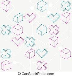 alakzat, motívum, elvont, geometriai, seamless